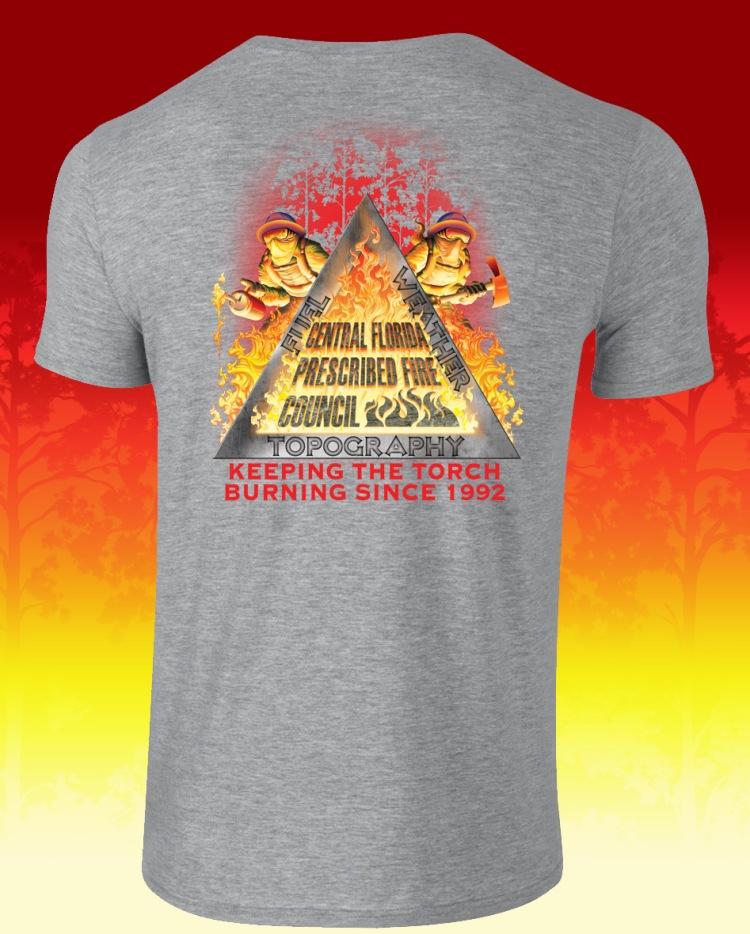 Central Florida PFC Grey Shirt with Fire Triangle Logo